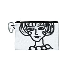 20s Girl Canvas Cosmetic Bag (small) by snowwhitegirl
