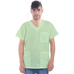 Baby Green Men s V Neck Scrub Top by snowwhitegirl