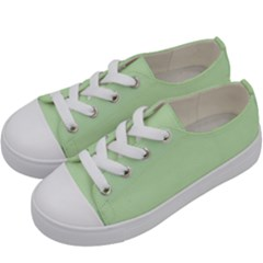 Baby Green Kids  Low Top Canvas Sneakers by snowwhitegirl