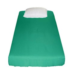 Seafoamy Green Fitted Sheet (single Size) by snowwhitegirl