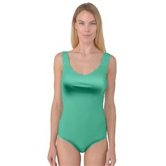 Seafoamy Green Princess Tank Leotard  by snowwhitegirl