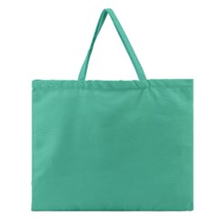 Seafoamy Green Zipper Large Tote Bag by snowwhitegirl
