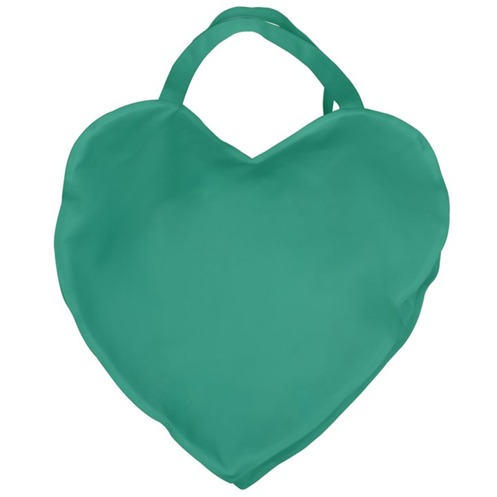 Seafoamy Green Giant Heart Shaped Tote