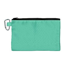 Seafoamy Green Canvas Cosmetic Bag (medium) by snowwhitegirl