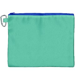 Seafoamy Green Canvas Cosmetic Bag (xxxl) by snowwhitegirl