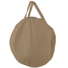 Brownish Giant Round Zipper Tote by snowwhitegirl