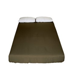 Rainy Brown Fitted Sheet (full/ Double Size) by snowwhitegirl