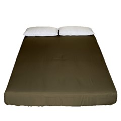 Rainy Brown Fitted Sheet (queen Size)