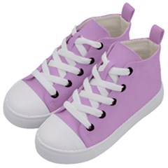 Pink Flowers Kid s Mid Top Canvas Sneakers by snowwhitegirl