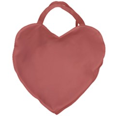 Late Peach Giant Heart Shaped Tote by snowwhitegirl