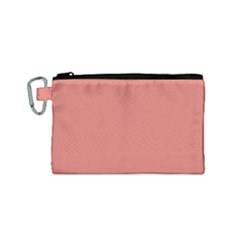 Late Peach Canvas Cosmetic Bag (small) by snowwhitegirl