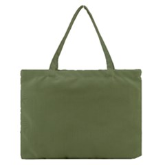Earth Green Zipper Medium Tote Bag by snowwhitegirl