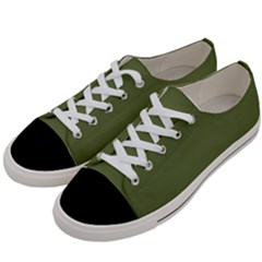 Earth Green Women s Low Top Canvas Sneakers by snowwhitegirl