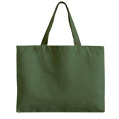 Army Green Zipper Mini Tote Bag by snowwhitegirl