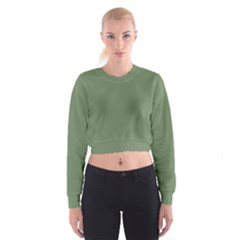 Army Green Cropped Sweatshirt