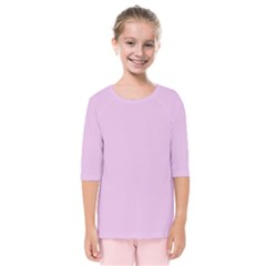 Lilac Star Kids  Quarter Sleeve Raglan Tee by snowwhitegirl