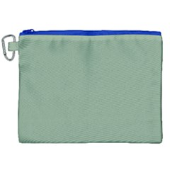 Mossy Green Canvas Cosmetic Bag (xxl) by snowwhitegirl