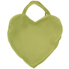 Avocado Giant Heart Shaped Tote by snowwhitegirl