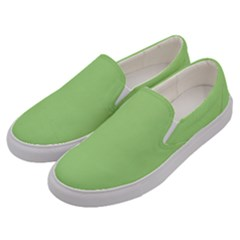 Pistachio Taste Men s Canvas Slip Ons by snowwhitegirl