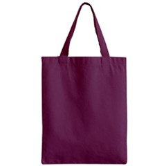 Medium Grape Zipper Classic Tote Bag by snowwhitegirl