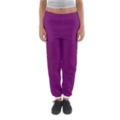 Magenta Ish Purple Women s Jogger Sweatpants by snowwhitegirl