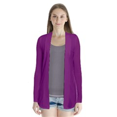 Magenta Ish Purple Drape Collar Cardigan by snowwhitegirl