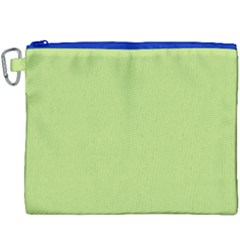 Grassy Green Canvas Cosmetic Bag (xxxl) by snowwhitegirl