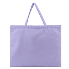 Violet Sweater Zipper Large Tote Bag by snowwhitegirl