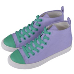 Violet Sweater Women s Mid Top Canvas Sneakers by snowwhitegirl