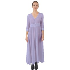 Violet Sweater Button Up Boho Maxi Dress