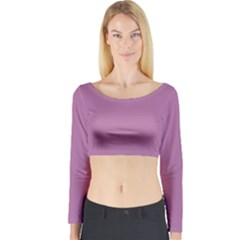 Silly Purple Long Sleeve Crop Top by snowwhitegirl