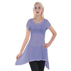 Grey Violet Short Sleeve Side Drop Tunic by snowwhitegirl