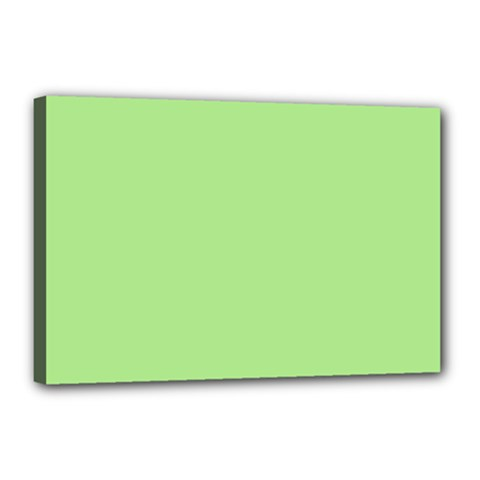 Meadow Green Canvas 18  X 12  by snowwhitegirl