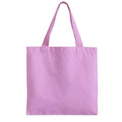 Soft Pink Zipper Grocery Tote Bag by snowwhitegirl
