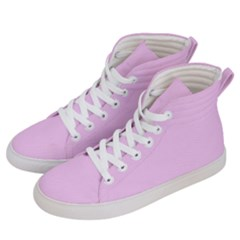 Soft Pink Men s Hi Top Skate Sneakers by snowwhitegirl
