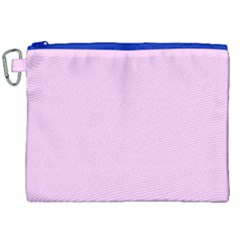 Soft Pink Canvas Cosmetic Bag (xxl) by snowwhitegirl