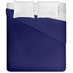 Dark Navy Duvet Cover Double Side (california King Size) by snowwhitegirl