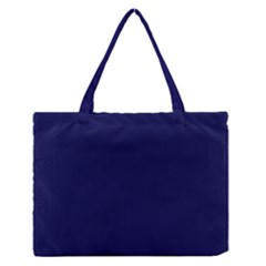 Dark Navy Zipper Medium Tote Bag by snowwhitegirl