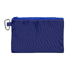 Dark Navy Canvas Cosmetic Bag (large) by snowwhitegirl