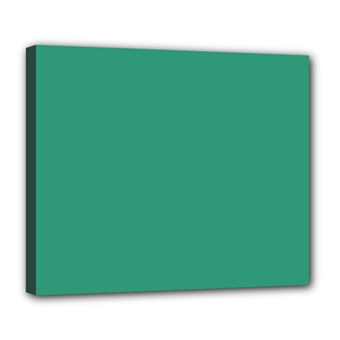 Teal Ocean Deluxe Canvas 24  X 20   by snowwhitegirl