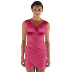 Rosey Day Wrap Front Bodycon Dress