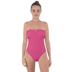 Rosey Day Tie Back One Piece Swimsuit