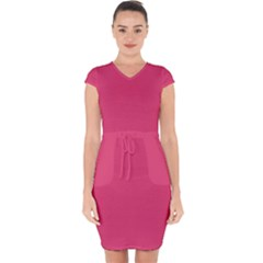 Rosey Day Capsleeve Drawstring Dress