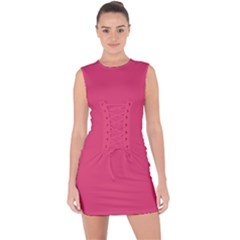 Rosey Day Lace Up Front Bodycon Dress