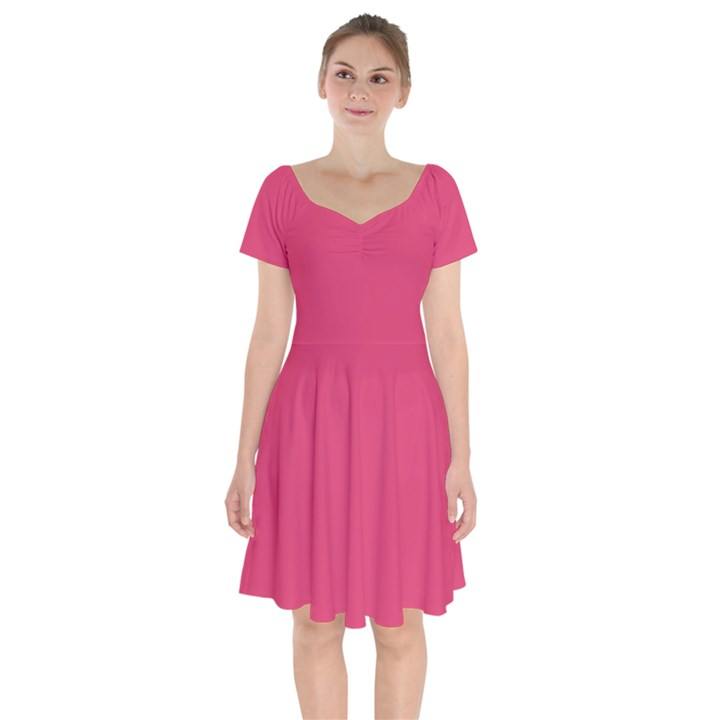 Rosey Day Short Sleeve Bardot Dress