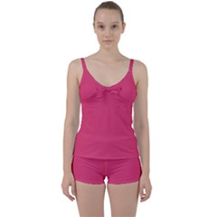 Rosey Day Tie Front Two Piece Tankini