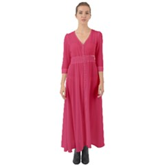 Rosey Day Button Up Boho Maxi Dress