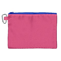 Rosey Day Canvas Cosmetic Bag (XL)