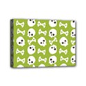 Skull Bone Mask Face White Green Mini Canvas 7  x 5  View1