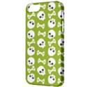 Skull Bone Mask Face White Green Apple iPhone 5 Classic Hardshell Case View3